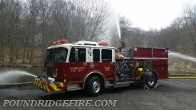 Engine 113 flowing a bumper line and deck gun while being supplied by Engine 112.