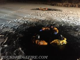 Week one of training members donned the suits and got comfortable maneuvering in cold water.
